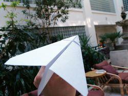 Paperairplane thing